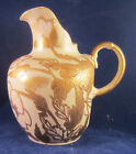 SATSUMA SIGNED HAND PAINTED LOTUS DECORATION PITCHER or JUG