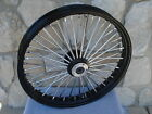 21X35 BLACK FAT SPOKE DUAL DISC FRONT WHEEL HARLEY FLT TOURING BAGGERS 2000 07