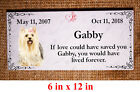 Custom Pet Memorial Grave Marker 10x5 Headstone Stone Plaque Dog Cat Horse