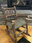 Old Hickory style child's rocking chair