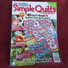 Simple Quilts  Sewing Magazine 40 Fast Projects 125 2012 Free Ship
