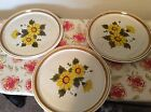 Mikasa Stone Manor MELISSA F6811 Set of 3 Dinner Plates 11 in Gold Floral
