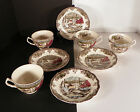 Johnson Brothers Friendly Village Flat Cup and Saucer Set (s) LOT OF 4