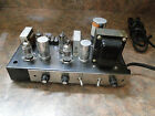 STEREO TUBE AMP-VINTAGE 6AQ5 & 12AX7 POWERED AMP SOUNDS GREAT-VINTAGE AUDIO