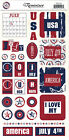 AMERICANALARGE Sheet Reminisce STICKERS Patriotic USA Red White