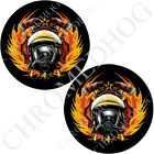 Medallion Decal Insert Set for Harley Brembo Brake Calipers - Fire Fighter Black