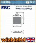 EBC Rear Carbon TT Brake Pads Beta R 150 (Minicross /4T/49cc) 10-13 FA337TT