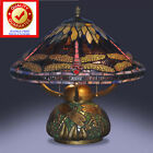 Tiffany Style Dragonfly Lamp Cut Stained Glass Reading Table Desk Mos