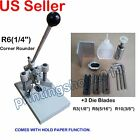 All Metal Heavy Duty Corner Rounder Punch Cutter+4 Blades R3 R6 R8 R10