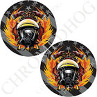 Brake Insert Medallion Decal for Harley Brembo Caliper - Ghost Flag Fire Fighter