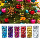 24pcs Glitter Christmas Balls Baubles Tree Hanging Ornament Wedding Party Decor