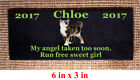 Custom Pet Memorial Grave Marker 5x3 Headstone Stone Plaque Dog Cat Horse Bird