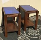 WALNUT END TABLES / NICE