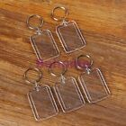 5 Creative Blank Insert Photo Picture Frame KeyChain Keyring Key Chain Gift