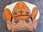 Vintage 1950s Litho COWBOY Cardboard Paper MASK HalloweenPartyWho Am I Game