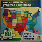 50 USA United States of America Map Puzzle w State Capitals 60 pc Learning Kids