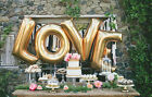 42HUGE GOLD LETTER USA Foil Balloon Wedding Birthday Number Party Supplies lot