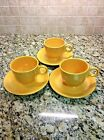 VINTAGE FIESTA 'YELLOW' TEA CUP AND SAUCER - SET OF 3