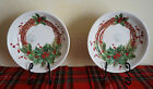 NWT CERAMICA CUORE MADE in ITALY 2 CHRISTMAS HOLIDAY PASTA SALAD SERVING BOWLS