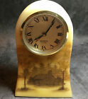 Vintage Fenton Mantel Clock Hand painted and signed by artist Custard Glass
