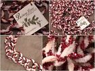 2 Strands OfChristmas Candy Cane CHENILLE CHAIN GARLAND Bethany Lowe Designs