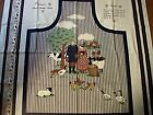 Concord's French Country APRON Fabric Panel UNCUT Cows Chickens Farm