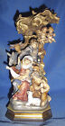 PEMA Hand Carved  Painted Wood Bachthaler Block Nativity Scene 12 Italy 699