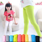 Fashion Kids Girls Winter Warm Velvet Leggings Solid Candy Color Pant Trousers
