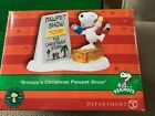 Dept 56 Peanuts Village SNOOPY'S CHRISTMAS PAWPET SHOW Charlie Brown Snoopy NIB!