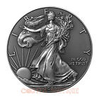 American Eagle 1oz fine silver coin USA 2016 antiqued enhancement
