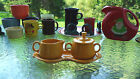 FIESTA WARE 4 PC. CREAMER SUGAR TRAY LID marigold NEW