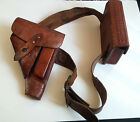 VINTAGE Viking Hand-Made Leather Holster, Belt, & Ammo Pouch (Free Shipping!!)