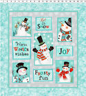 Panel-Frosty Fun By Sue Zipkin for Clothworks Fabrics 2/3 YARD