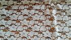 WHITE LACE SEWING FABRIC ---4 7/8 YARDS