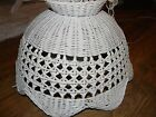 Vintage Wicker Swag Hanging Lamp 135 ft chord White