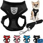 Breathable Mesh Chihuahua Dog Pet Harness and Leash Set Puppy Vest