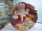 Fitz & Floyd Hand Painted Santa's List Cookies for Santa Plate 1994,N/B
