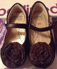 NEW In BOX PEDIPED TARA BROWN LEATHER Toddler Girls Sz55 21 Flex Sole Shoes
