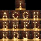 12 Marquee Metal Alphabet Letter Lights LED Light Up Sign Standing Hanging
