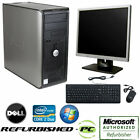 CLEARANCE Fast Dell Desktop Tower Computer PC Core 2 Duo WINDOWS 10 +LCD+KB+MS