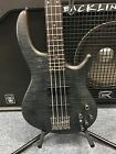 Dean Edge 4 Flame Top 4 String Active Electric Bass Trans Black Satin Brand New!