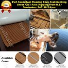 94 X 35 Brown EVA Foam Teak Sheet Marine Boat Synthetic Teak Decking Floor Mat