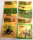 VINTAGE LOT OF FOUR ENGLAND HARLEY 1960S MOTOR CYCLING SCOOTER MAGAZINES B103