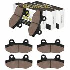 Caltric Front and Rear Brake Pads for Hyonsung GT650 GT650TTC GT650R 2005-2016