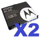 2 FOR 1 MOTOROLA OEM BC60 Cellphone Battery for SLVR L7 L6 L2