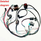 FULL ELECTRICS ATV WIRING HARNESS QUAD 50CC 70CC 110CC 125CC RECTIFIER COIL CDI