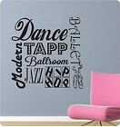24 Dance Sayings Collage Girl Tapp Ballet Wall Decal Sticker Home Art Sports