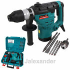HEAVY DUTY 1200W ROTARY SDS HAMMER DEMOLITION DRILL 240V & CHISELS IN CARRY CASE