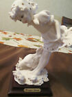 Giuseppe Armani Figurine,  Young Girl with Chicks, Neutral Coloring