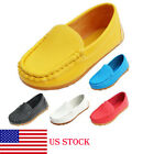 Boys Girls Boat Sneakers Kids Oxford Flat Shoes Slip On Loafers Toddler Casual